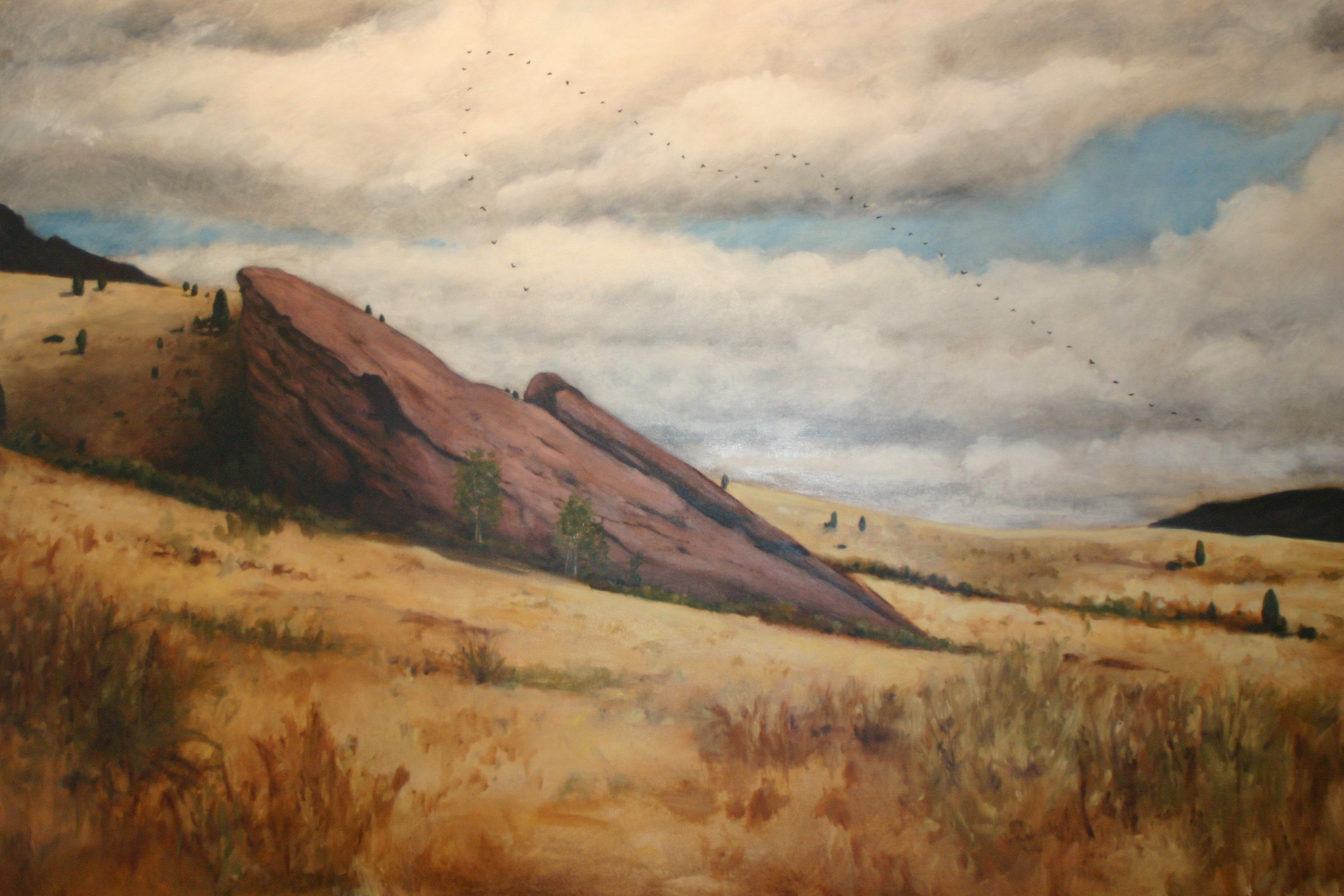 Go to the Untitled (Red Rocks Landscape Painting) page