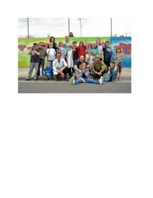 Brown Elementary Mural with Think 360