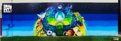 Go to the College View Rec. Center Mural page