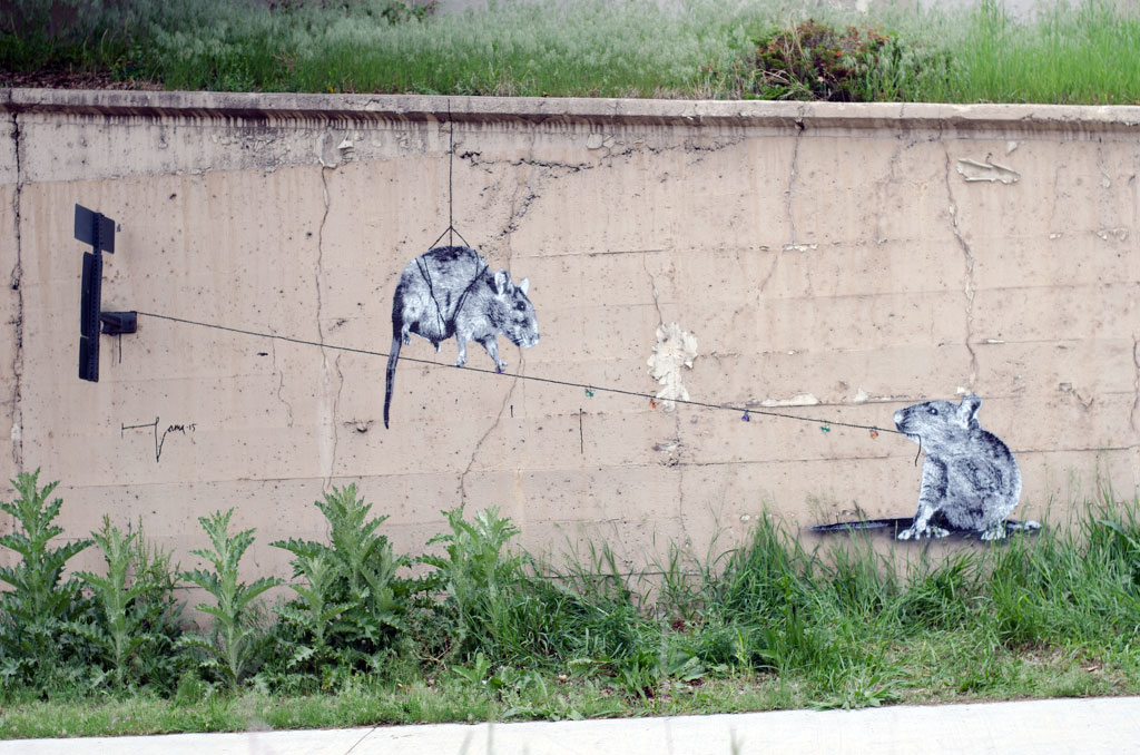 Go to the Untitled (Cherry Creek Mural, two mice) page
