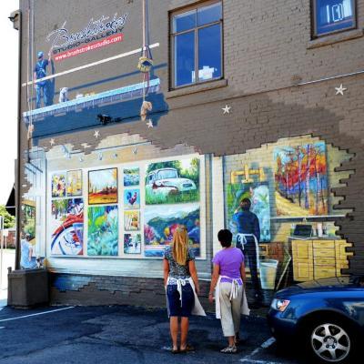 Brushstrokes Mural
