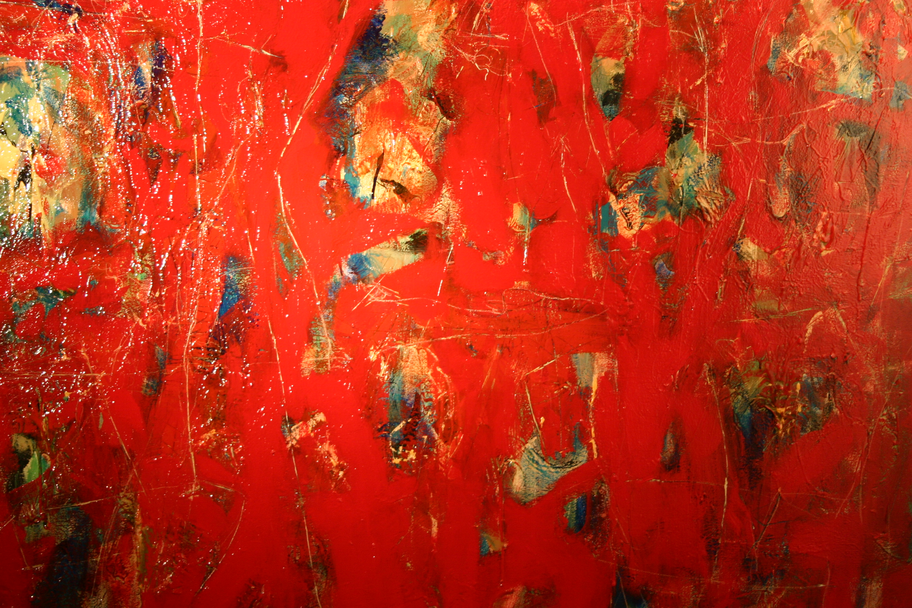 Go to the Untitled (Abstract Red Painting) page