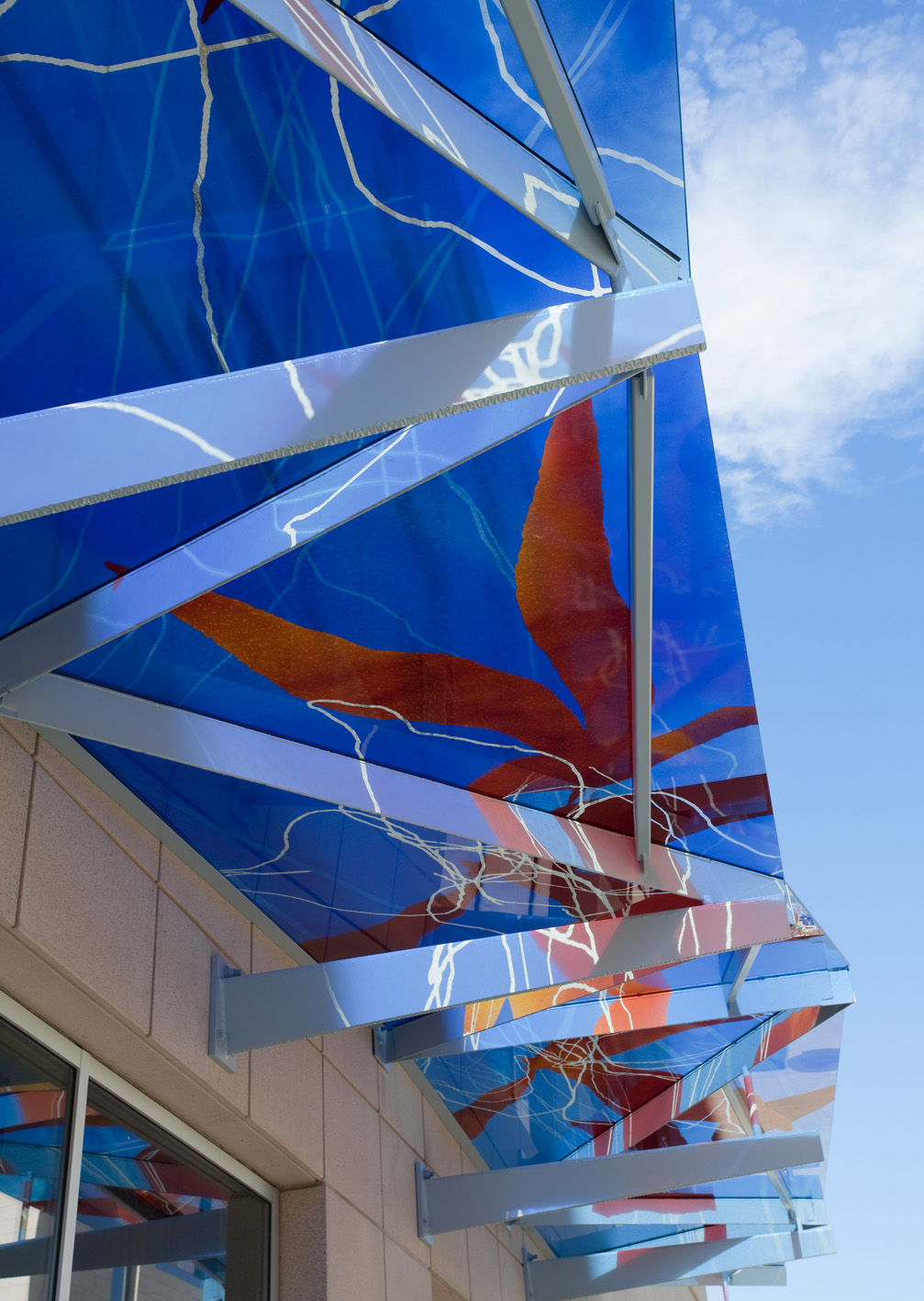 Untitled (Blue Glass Awning)